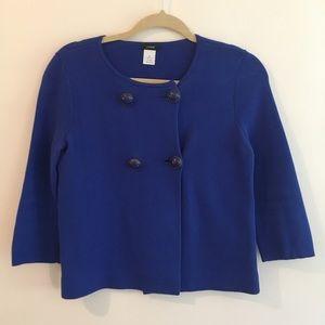 J Crew Knit Jacket/Cardigan in Blue